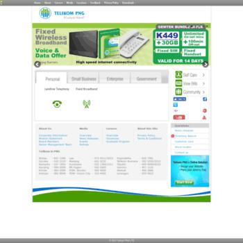 telikompng.com.pg at WI. Telikom PNG.