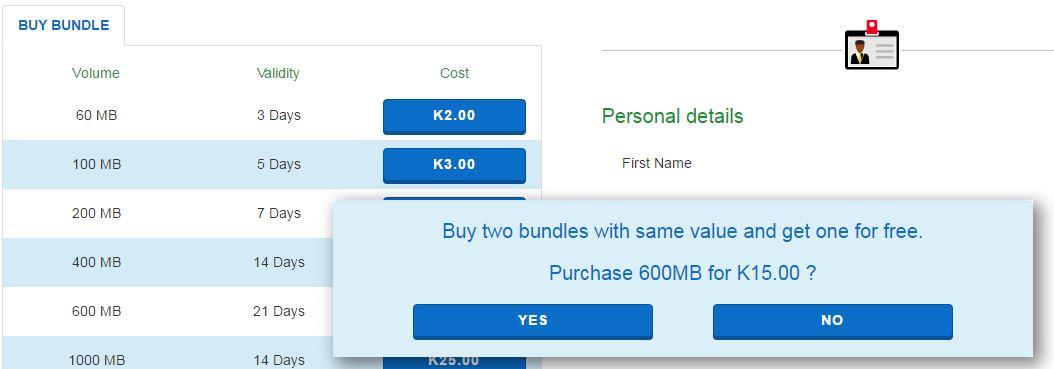 Telekom PNG Self Care Data Bundles.