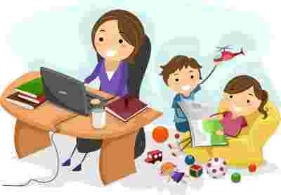Best Cliparts: Multi Tasking Mom Clipart Black Baby Brain.
