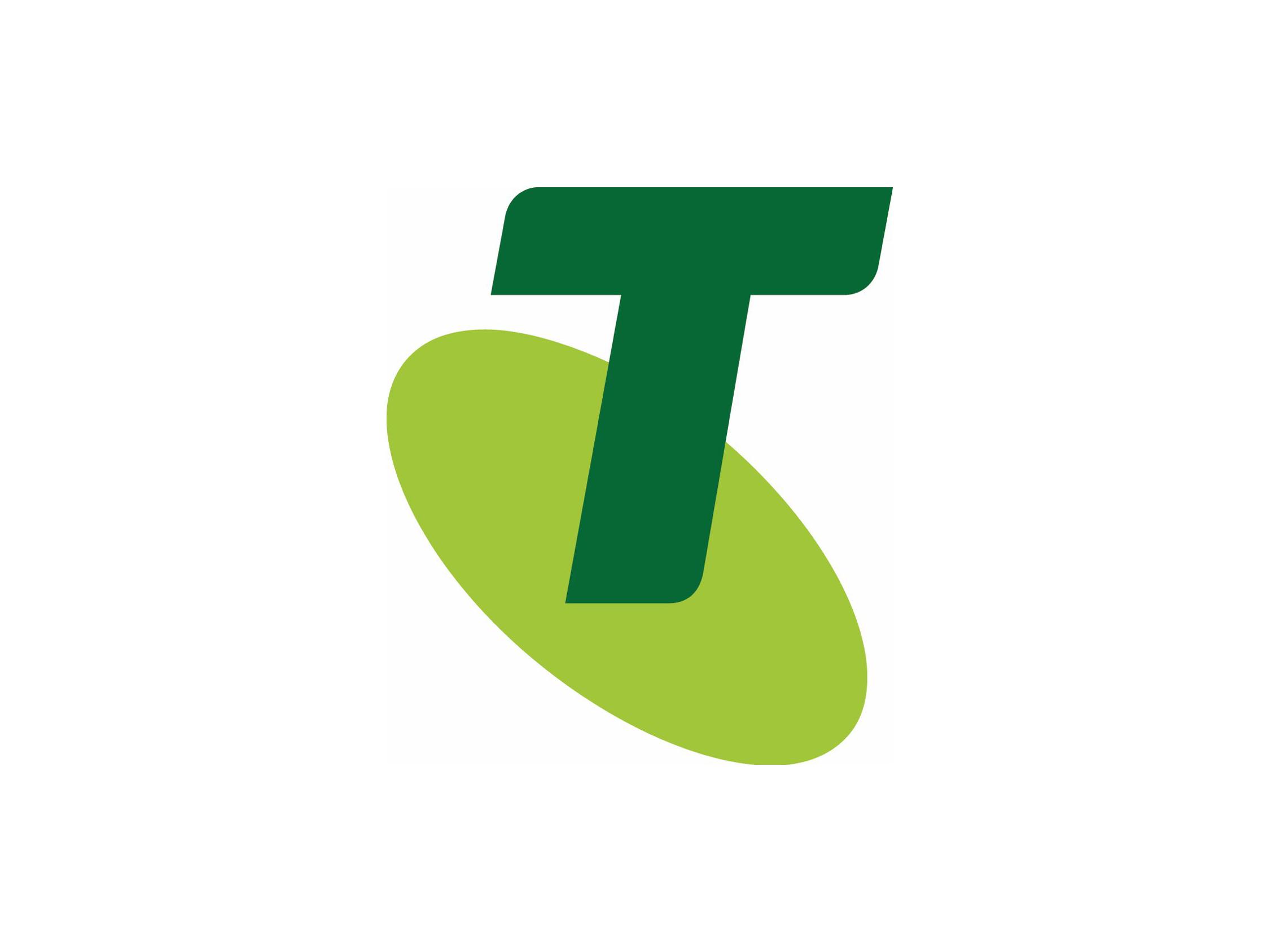Telstra logo.
