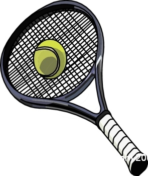 Tennis ball and racket clip art free clipart images.