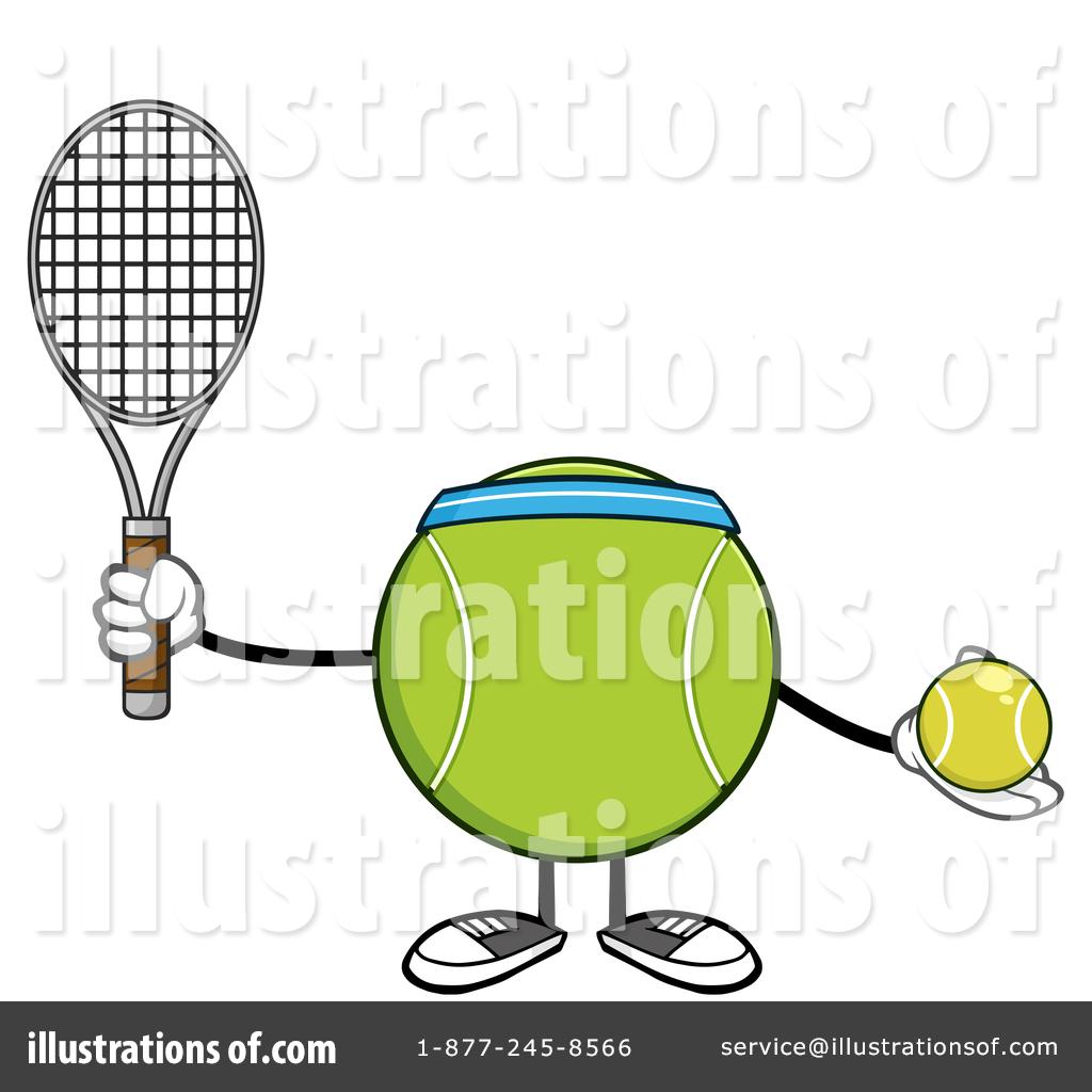 Tennis Ball Character Clipart #1409587.