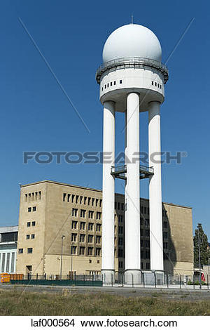 Stock Photo of Germany, Berlin, view to radar dome at Tempelhofer.