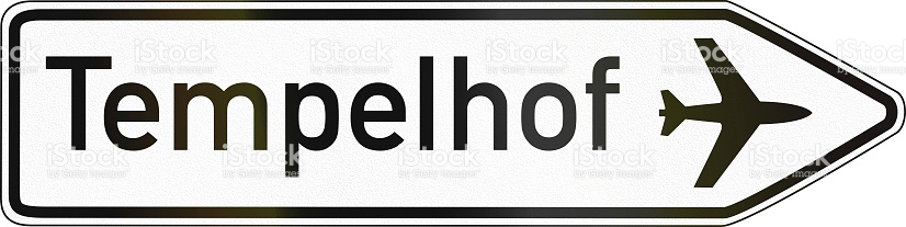 Direction Sign Airport Tempelhof stock vector art 532245839.