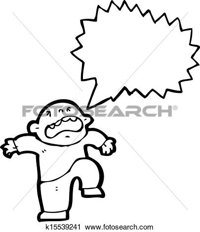 Clipart of cartoon temper tantrum k15539241.
