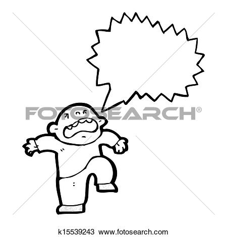 Drawing of cartoon temper tantrum k15539243.