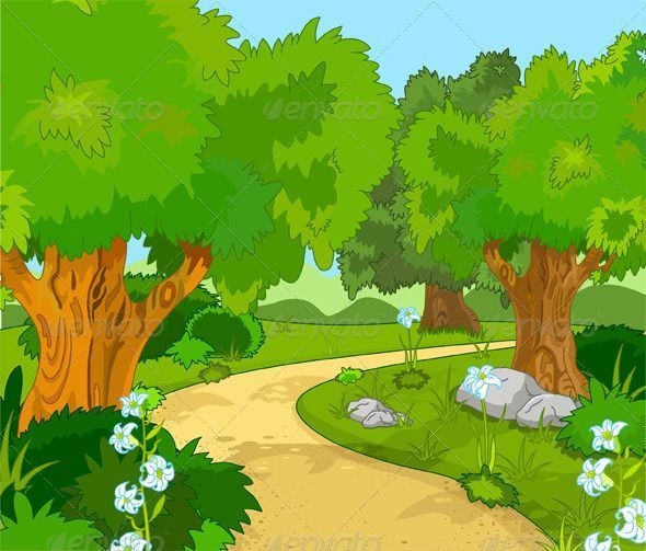 Forest clipart temperate deciduous forest, Forest temperate.