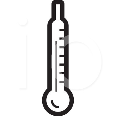 Thermometer Clip Art Black And White.