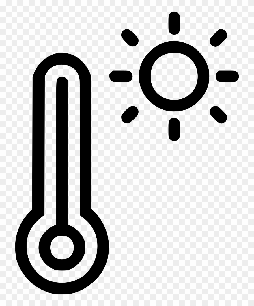 Temperature Reading Daytime Weather Thermometer Sun.