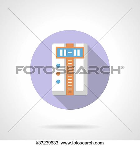 Clipart of Temperature controller flat round vector icon k37239633.