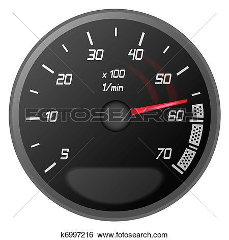 Clip Art of car temperature controller k6997216.