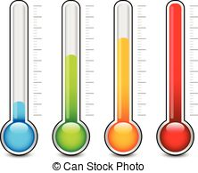 Thermometer temperature meter Vector Clip Art EPS Images. 733.