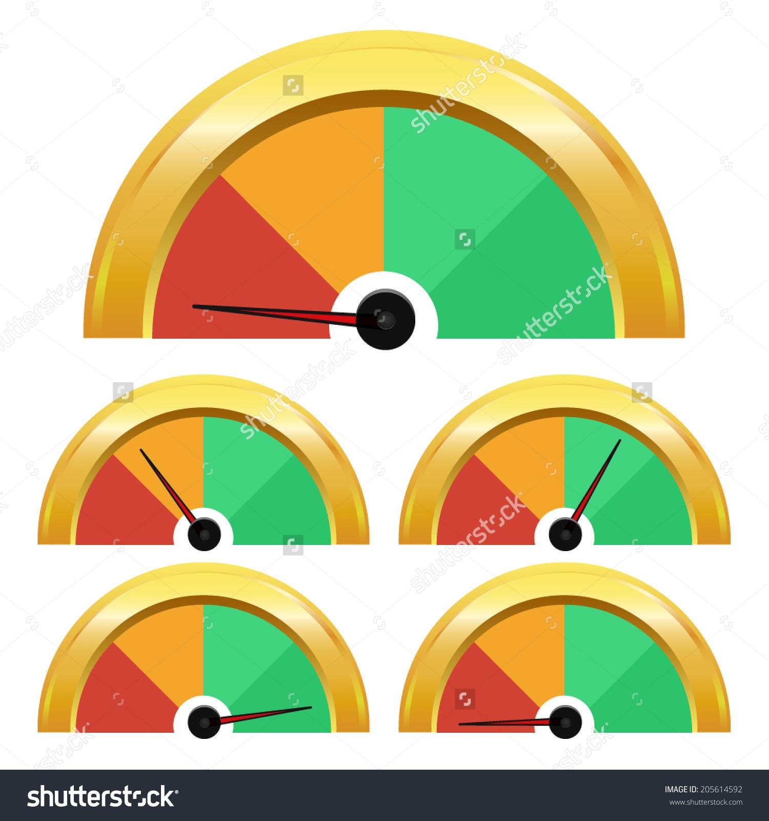 Temperature Gauge Rating Meter Vector Performance Stock Vector.