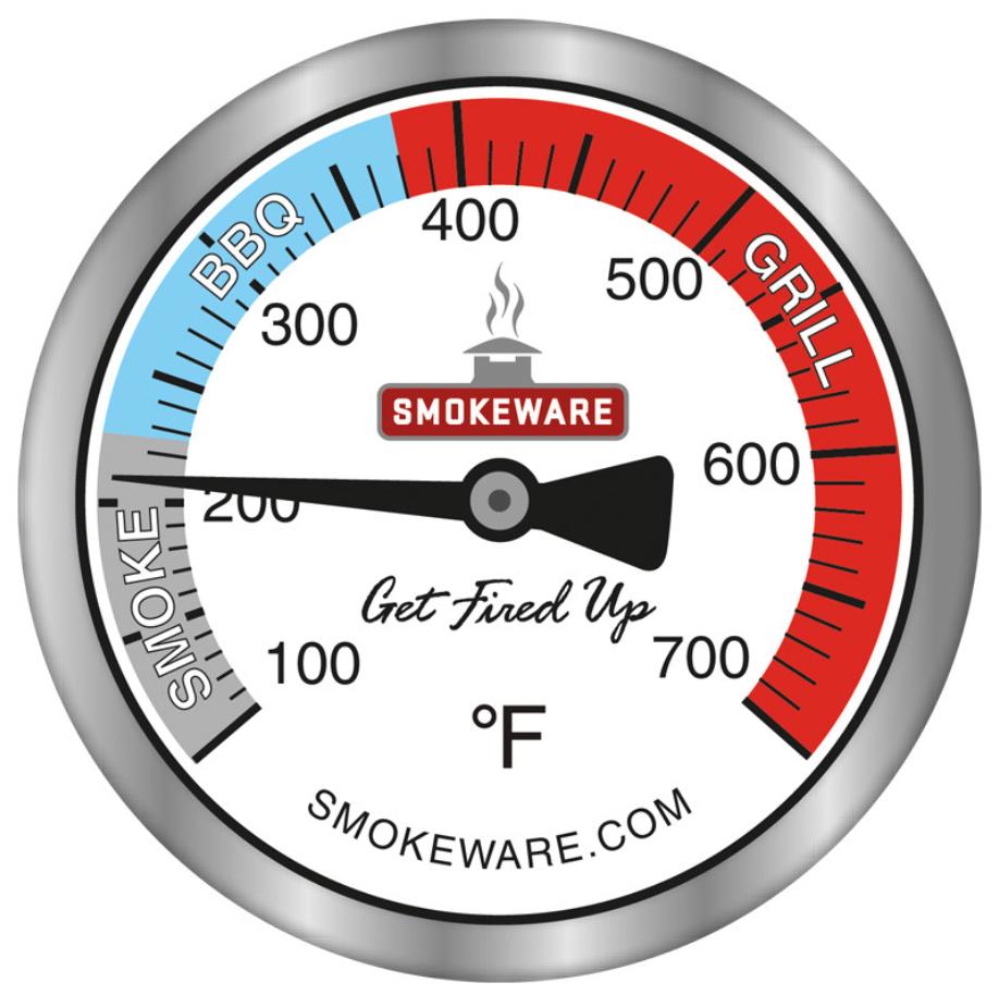 Smokeware Temperature Gauge.
