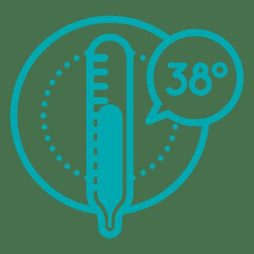 Temperature icon celcius.