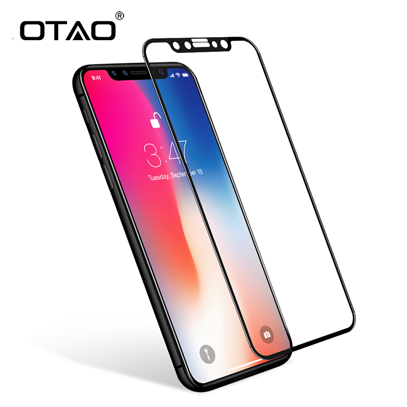 OTAO For Apple iPhone X 8 7 6 Plus Full Coverage Tempered.