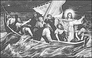 Christ Stilling The Tempest Clip Art Download.