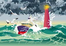Boat Tempest Stock Illustrations.