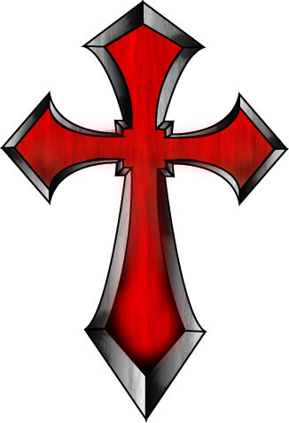 Templar Cross Tattoo Clipart.
