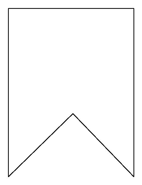 Bunting clipart outline #1.