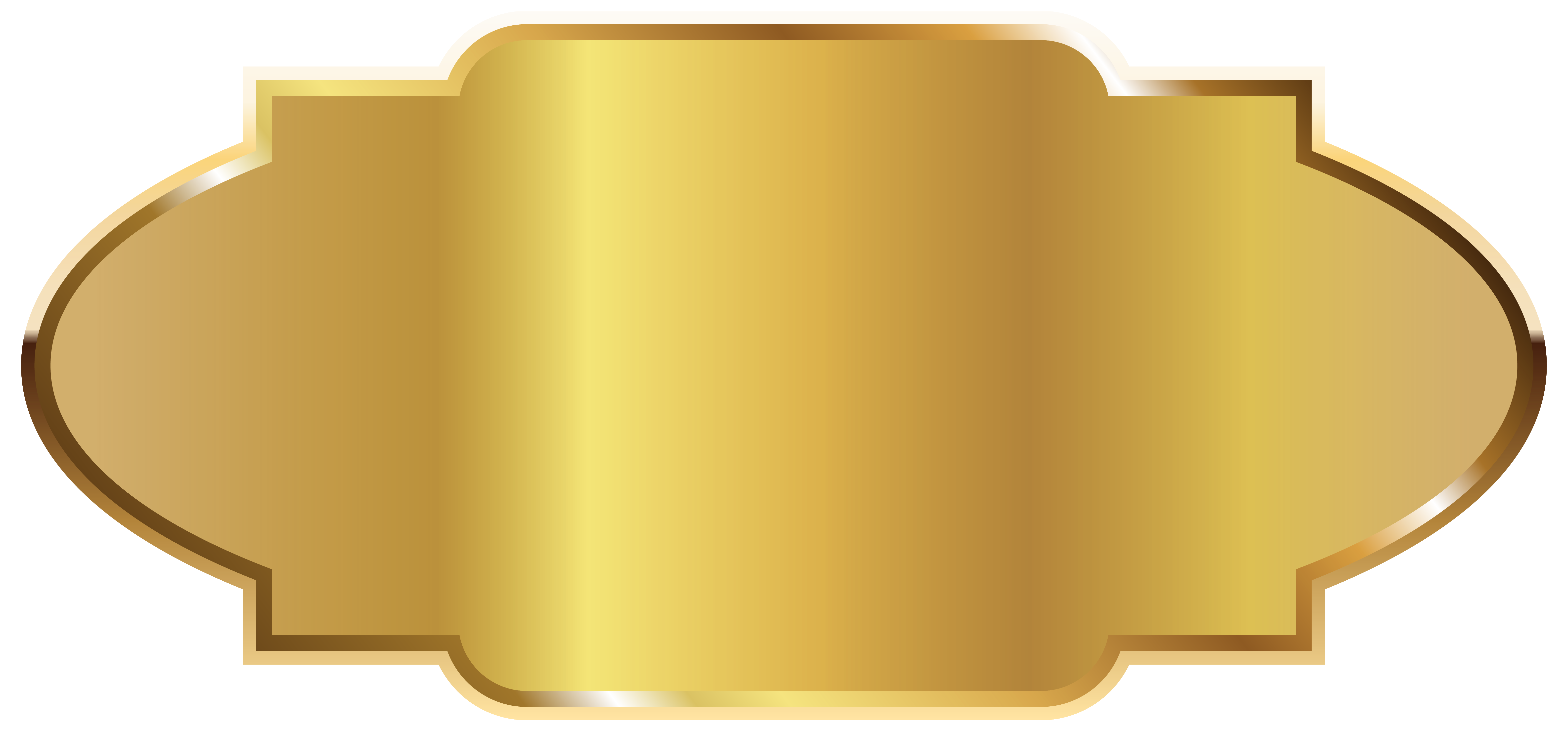 Golden Label Template Clipart PNG Picture.
