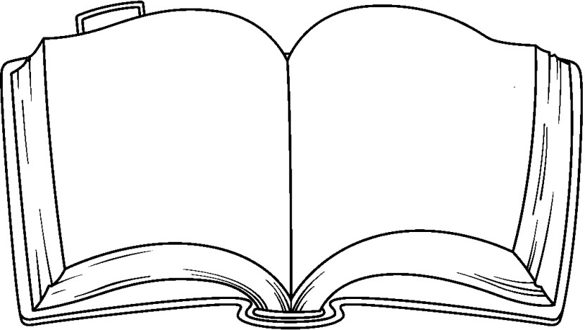 Open book template clip art.