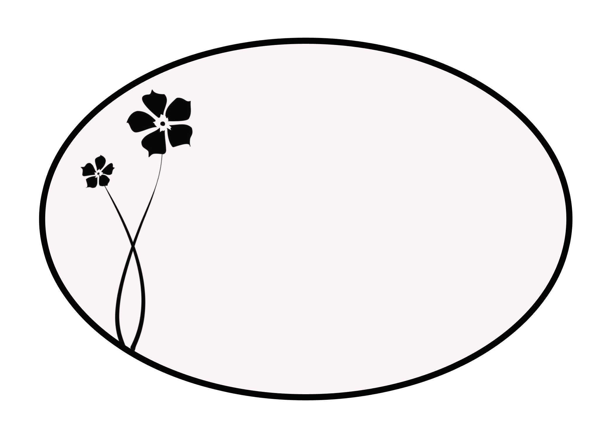Oval Shape Clipart Black And White.