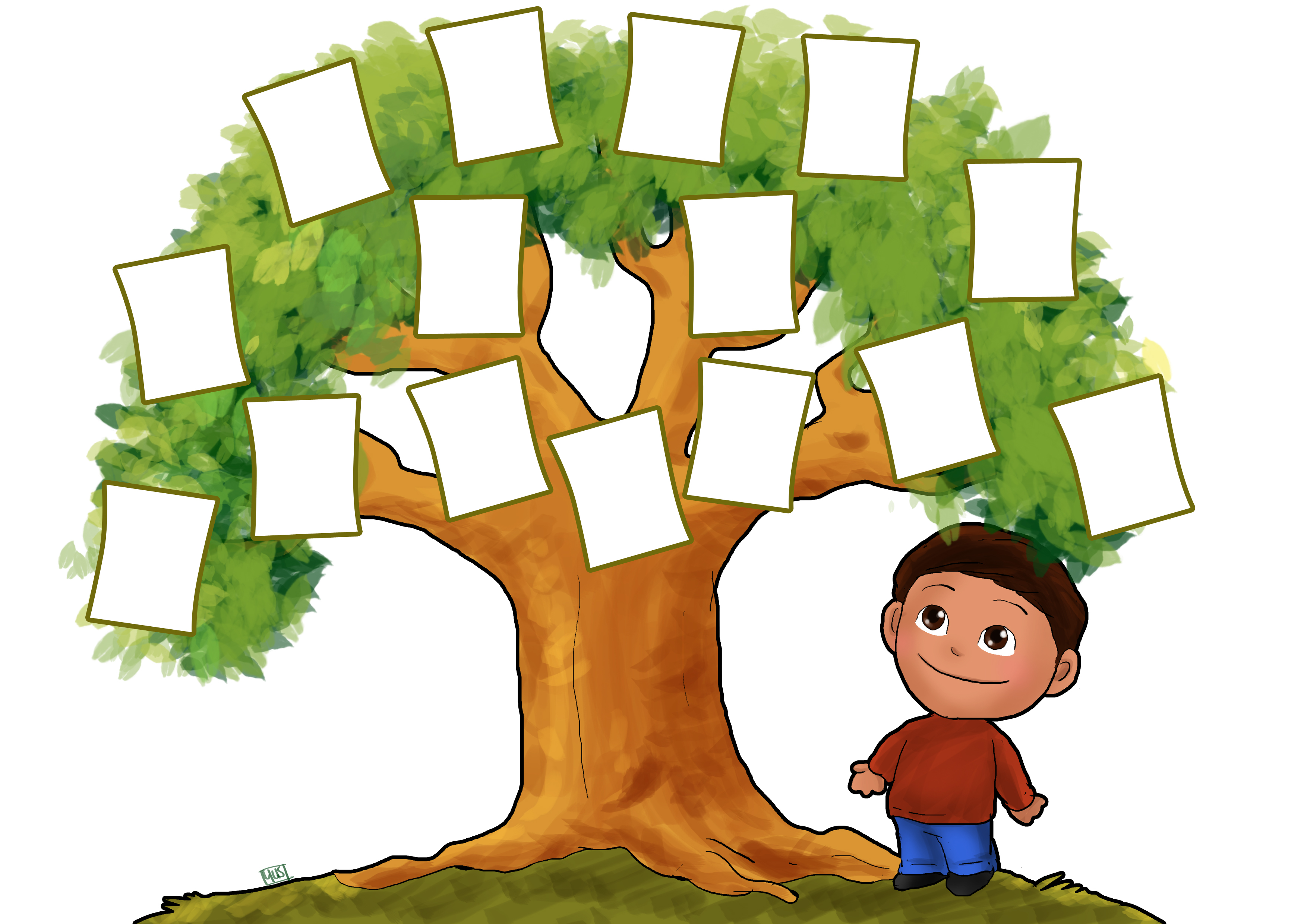 Family Tree Template Clipart.