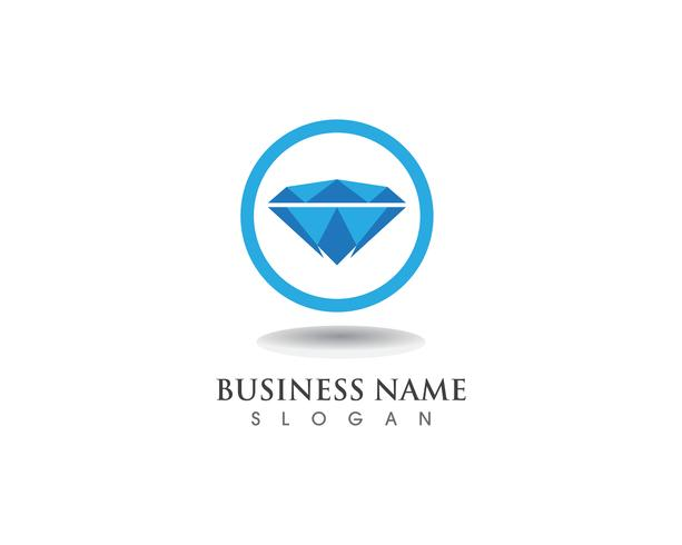 Diamond logo symbol vector template icon.