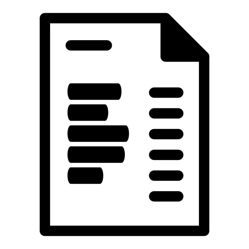 Mono Template Invoice Clipart Icon PNG.