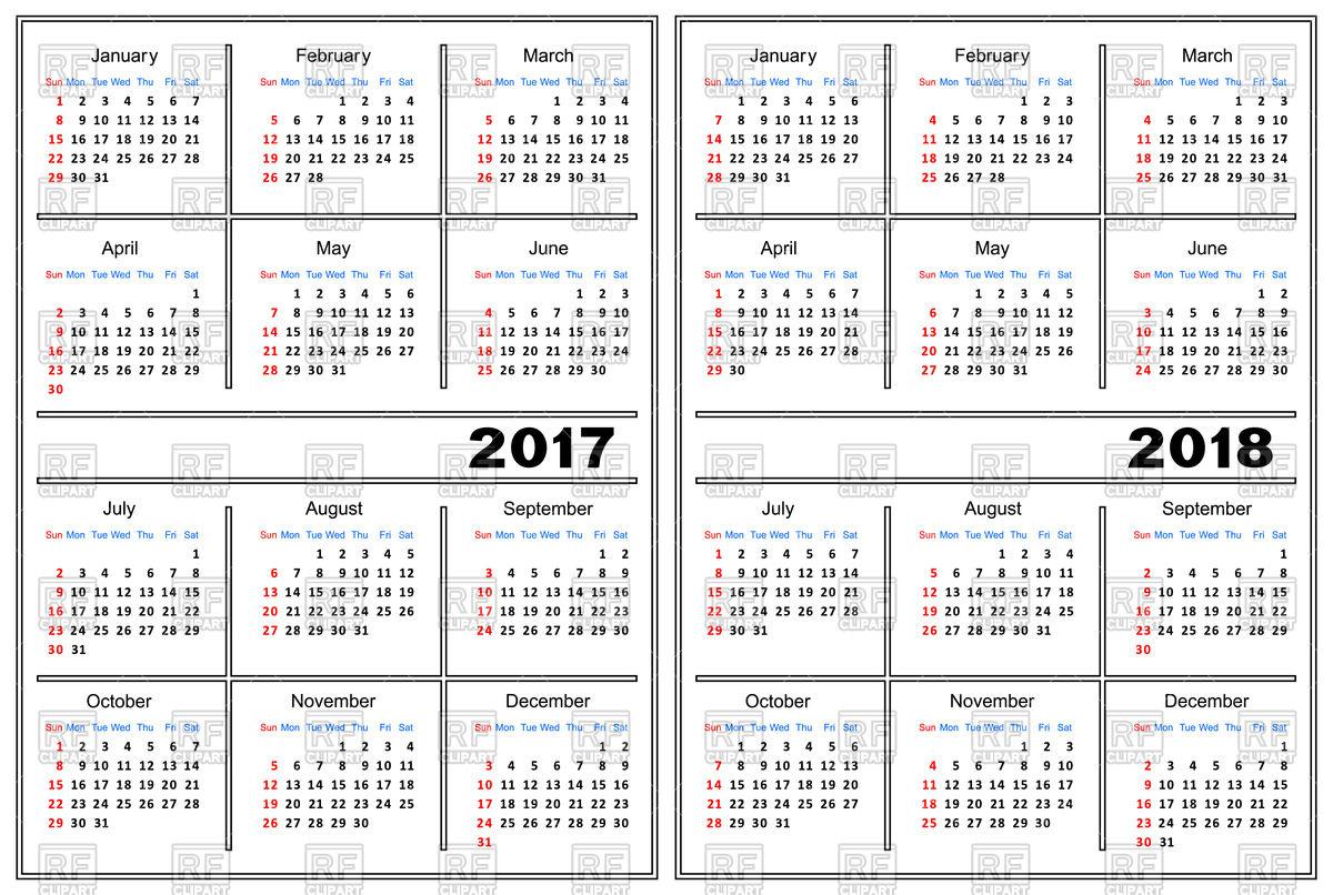 Calendar Template Clipart.