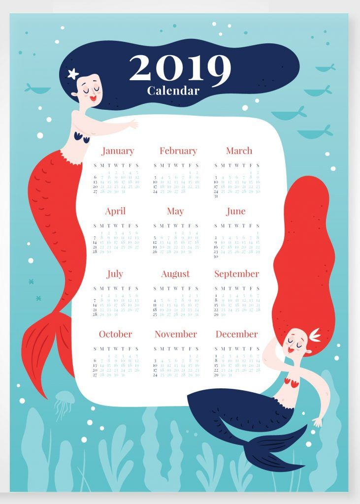 Cute 2019 Printable Calendar.