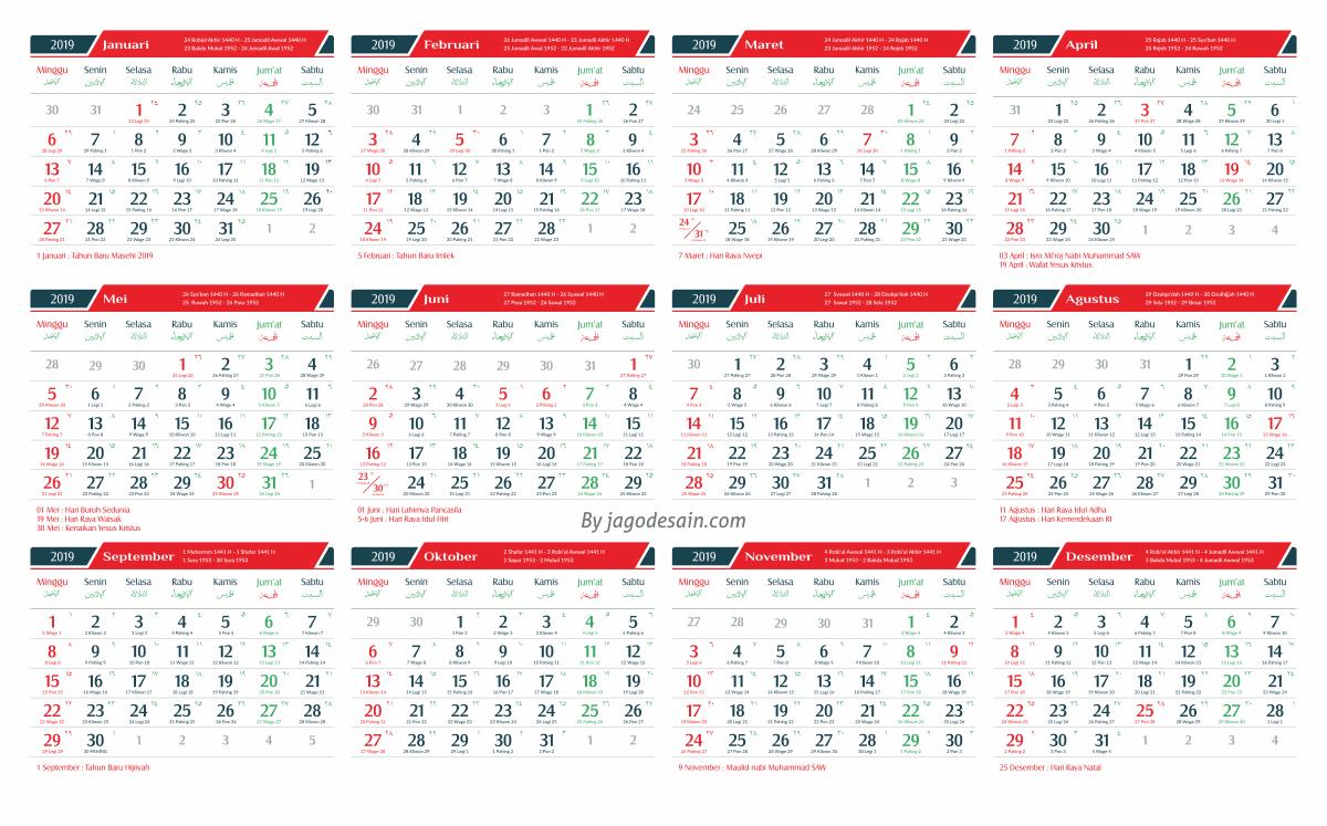 Download 2019 Calendar Printable with holidays list.