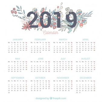 Calendar 2019 Vectors, Photos and PSD files.