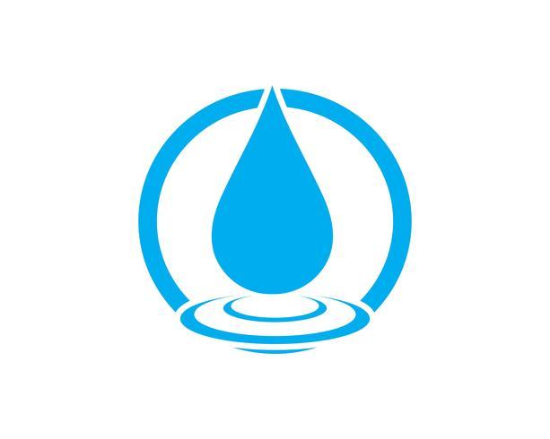Water drop Logo Template vector.