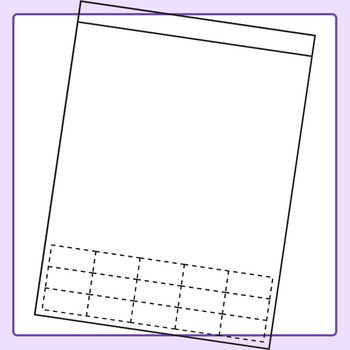 Cut and Paste Style Worksheet Templates / Layouts Clip Art for Commercial  Use.