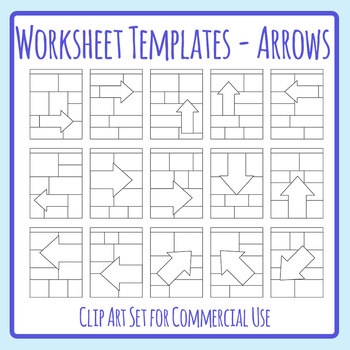 Special Attention Section Arrows / Directions Worksheet Template Layout  Clip Art.