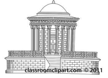 Architecture Gray and White Clipart: temple.