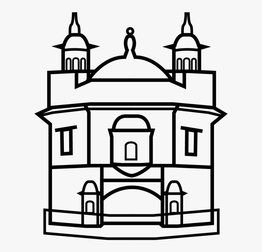 Golden Temple Black And White Icons , Free Transparent.