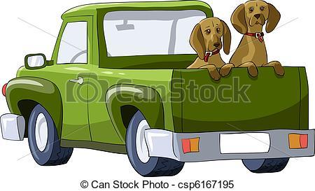Clip Art Vector of Temple dog carer.