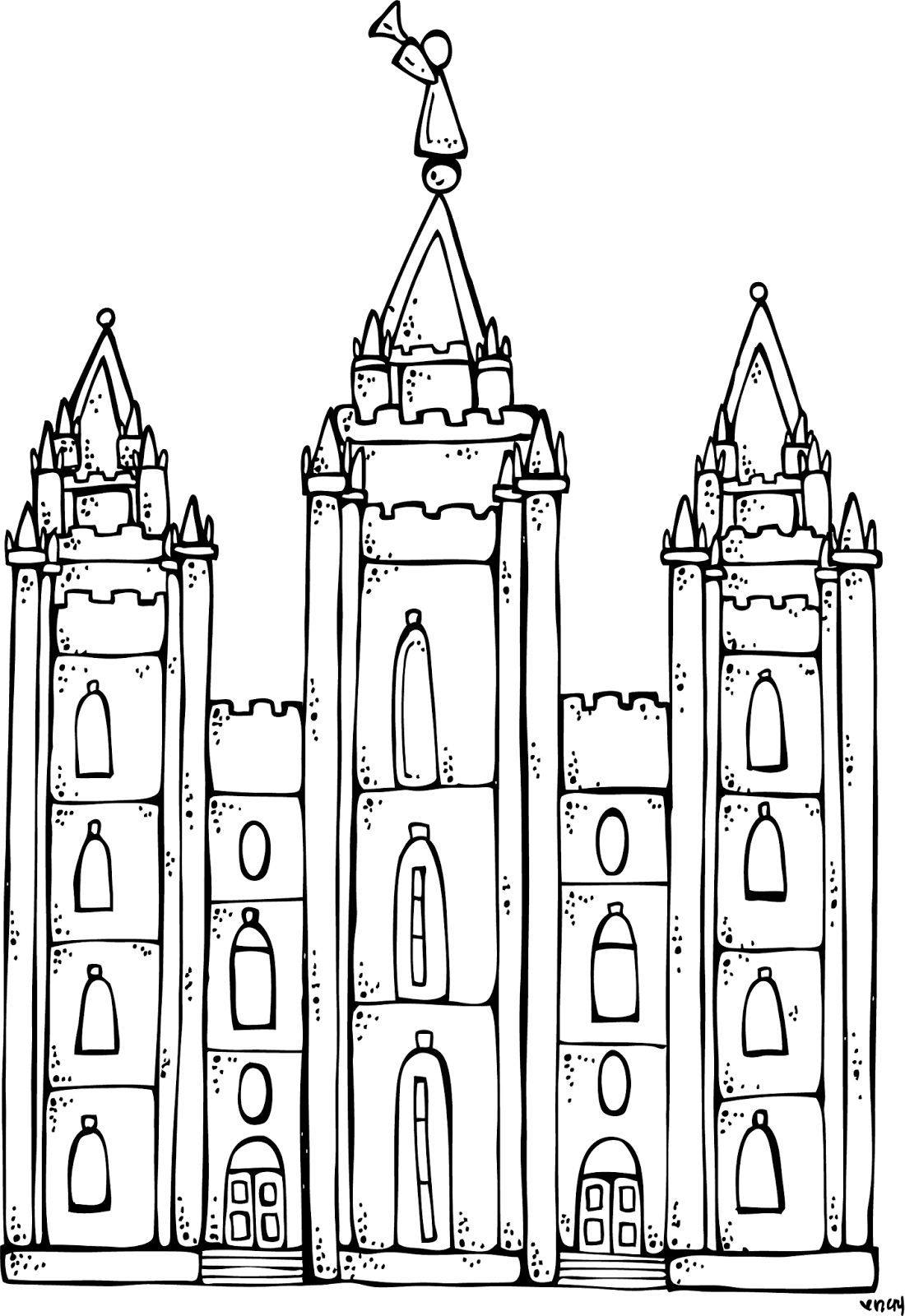 Melonheadz LDS illustrating: I Love to see the temple.