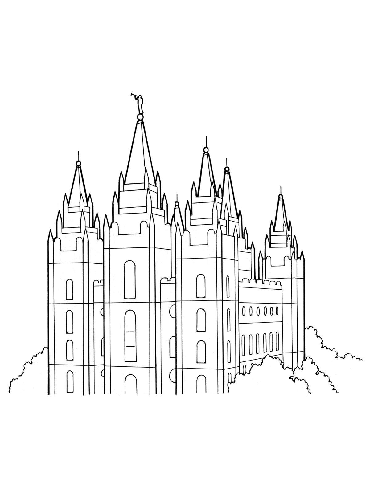 Unique Lds Temple Line Drawing Vector Design » Free Vector.