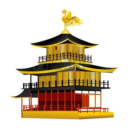 Golden temple clipart.
