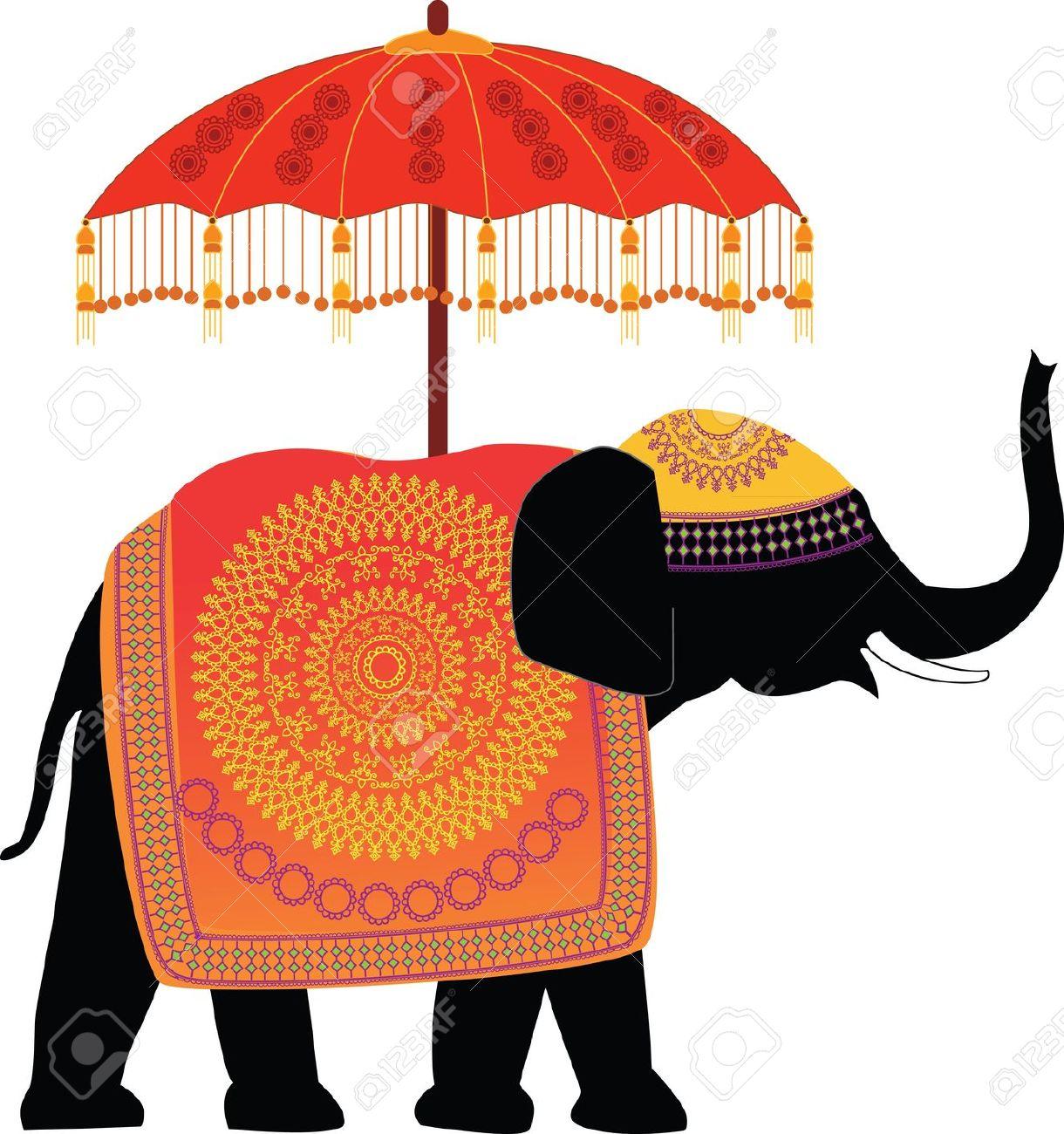 Hindu elephant clipart.