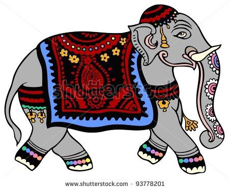 Indian elephant clip art.