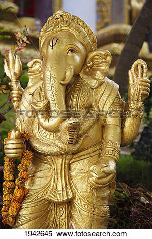 Stock Image of Ganesh Figure At Doi Suteph Temple; Chiang Mai.