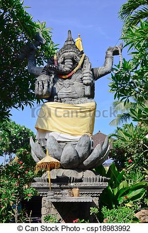 Stock Photographs of ganesha hindu god figure in bali indonesia.