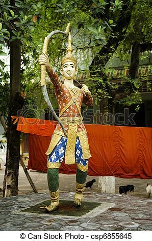 Stock Images of buddhist figure in phnom penh cambodia temple.