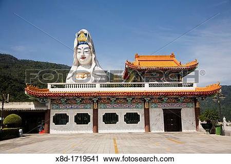 Stock Photography of Guan Yin Goddess of Mercy figure at Kek Lok.