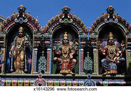 Stock Images of Figures at Sri Krishnan Temple x16143296.